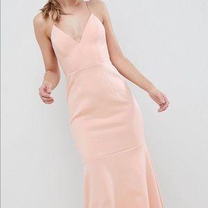 Maxi dress drop waist scuba cami